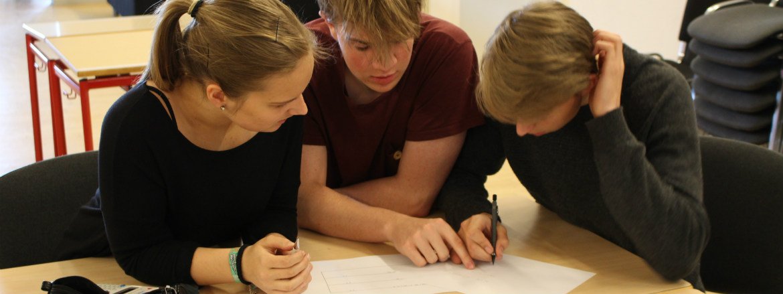 Eleverne samarbejder meget om skolearbejdet
