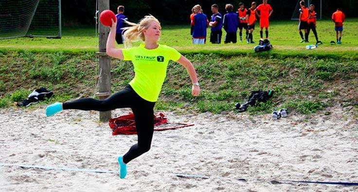 Træning til beachhåndbold