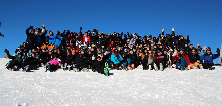 efterskolen på skitur til Østrig