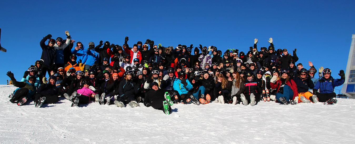 Skitur til Østrig for hele efterskolen