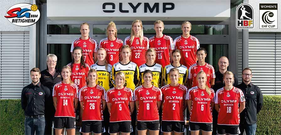 Tyske MEstre i håndbold træner på skolen