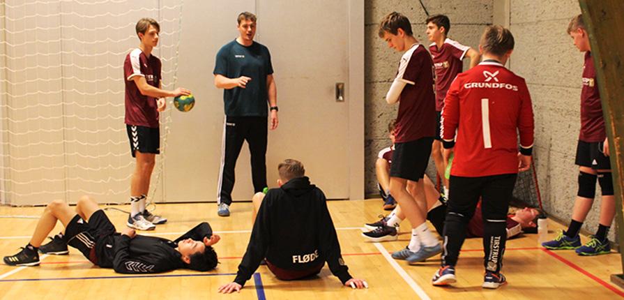 håndboldcamp på efterskolen